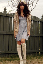 light blue cotton old american eagle dress - cream Urban Outfitters socks - crea