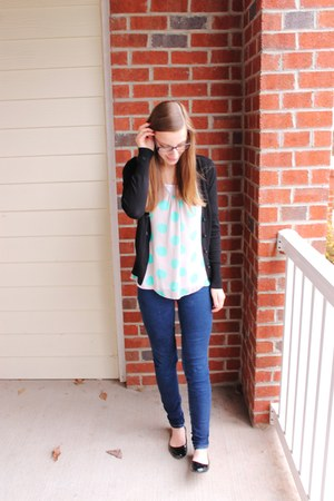 tank Forever 21 top - flats Target shoes - blue Ross jeans - black H&M sweater
