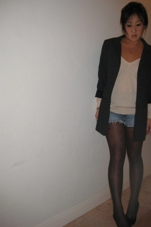 H&M blazer - sweater - Zara shorts - - Zara
