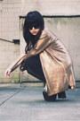 Gold-waxed-august-street-cardigan-unif-heels