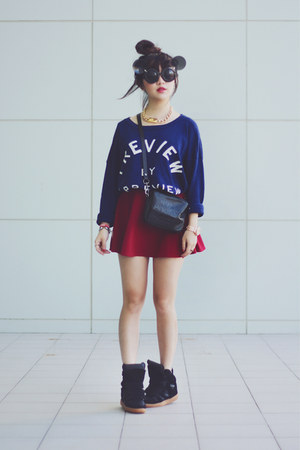sweater - sunglasses - sneaker wedge wedges