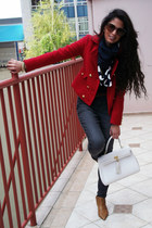 Forever 21 blazer - Via Uno shoes - DNKN jeans - vintage scarf
