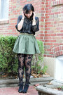 Black-rose-print-forever-21-tights-black-sheer-forever-21-top