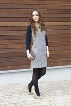 heather gray reserved dress