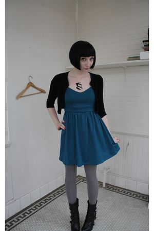 Urban Outfitters dress - Forever 21 cardigan - Urban Outfitters tights - Forever