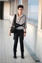 Topman shirt - myself belt - Zara pants - Gucci shoes - 15 minutes of accessorie