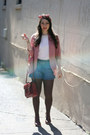 Urban Outfitters blazer - NY&CO shorts - vintage blouse
