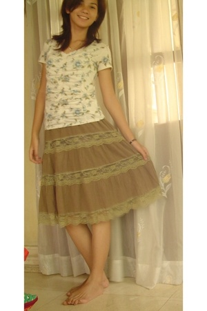 sm dept store skirt - sm dept store shirt - espadrilles shoes - Anne Klein acces