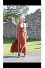 Blue-river-island-boots-burnt-orange-new-look-dress