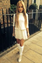eggshell asos dress