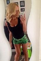 green River Island shorts - black H&M top