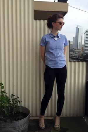 sky blue American Apparel jeans - dark gray American Apparel jeans