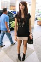 black t-shirt - light pink Topshop - black Forever 21 - black - silver Forever 2