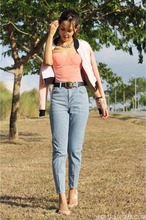 light blue mom Topshop jeans