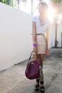 Magenta-marc-by-marc-jacobs-bag-white-sexy-white-shirt-t-shirt