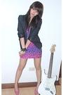 Black-blazer-topshop-pink-aldo
