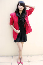 thrifted blazer - flowy Forever 21 skirt - Forever 21 top - Valentino heels