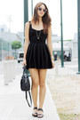 Black-topshop-dress-black-cole-haan-bag-pink-sunnies-by-charlie-sunglasses