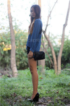 blue chiffon from bangkok top
