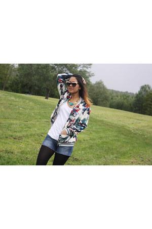 light blue Zara jacket - ivory & other stories sunglasses