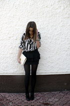 vintage shirt - vintage bag - H&M heels - Zara skirt