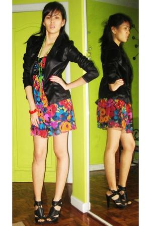 Forever21 dress - vintage jacket - boutique shoes