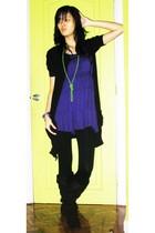 H&M dress - giordano jacket - sm department store leggings - shoes