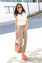 neutral peter coolar Gap blouse - burnt orange Forever 21 pants