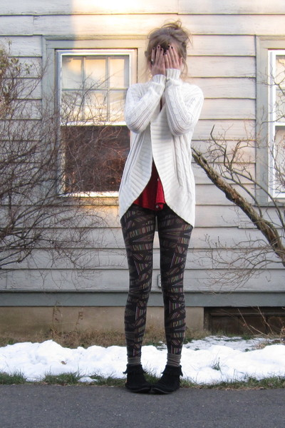 Red Sweaters Black Leggings Black Boots Quot Sick Quot By