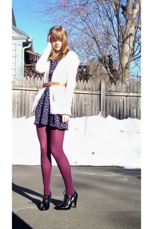 Target sweater - thrifted dress - Target tights - Ebay shoes