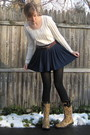 Blue-h-m-skirt-brown-syms-boots-red-vintage-belt