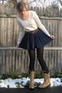Blue-h-m-skirt-brown-syms-boots-red-vintage-belt