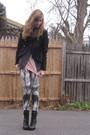 Black-target-jacket-beige-aa-shirt-silver-macys-vest-black-f21-leggings-