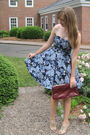 Blue-h-m-dress-red-tag-sale-purse-beige-forever-21-shoes