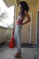 PROENZA SCHOULER top - Christian Louboutin shoes - Insight jeans