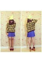 bart simpson Chocochips Boutique sweater - blue Cloth Inc skirt