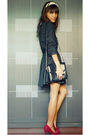 Black-archive-dress-red-from-sister-shoes-black-versace-bag-silver-forever