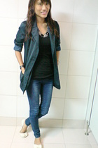 black Zara top - Girl Shoppe necklace - from Thailand blazer - fab leggings - Vi