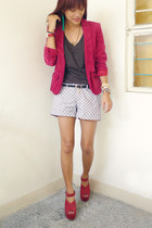 maroon plethora shop blazer - dark gray Sexy White Shirt shirt