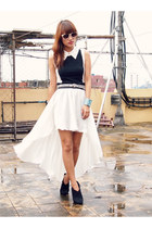 white Soul Lifestyle skirt - white used as top Depaige Manila dress