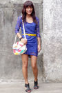 Purple-h-m-dress-yellow-from-dept-store-belt-bought-online-accessories-pri