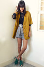 Daintyshop-shoes-vintage-blazer-paperbag-archiveclothing-shorts-knit-topsh