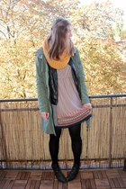 black Primark jacket - forest green Street One boots