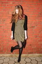 black vintage bag - gold H&M dress - crimson lace Vero Moda blouse