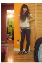 H&M shirt - Zara shirt - H&M pants - Novacas shoes