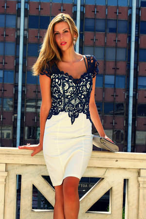 white lace dress Lipsy VIP dress