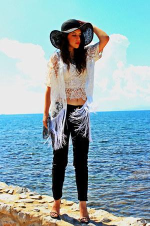black H&M hat - white Choies romper