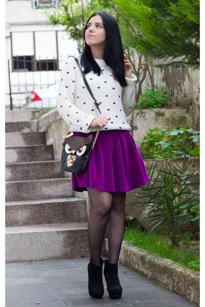 Choies skirt - Sheinside sweater - BangGood bag
