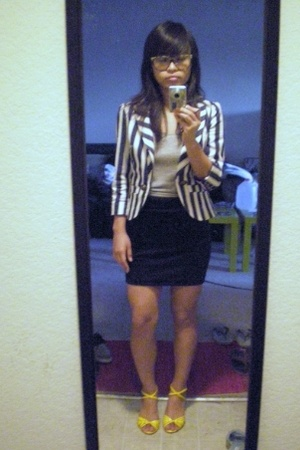 American Apparel skirt - forever 21 blazer - Japan brand top - vintage from UCI