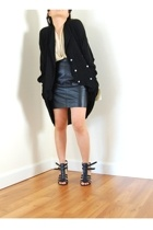 vintage avant garde tuxedo sweater jacket
